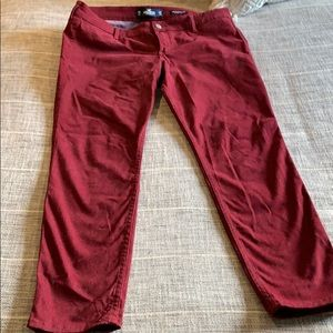 Maroon hollister jean leggings